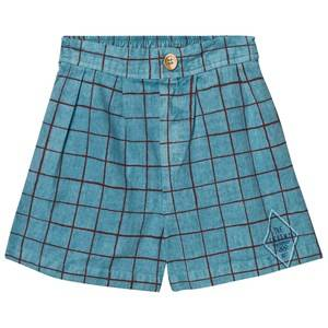 Bobo Choses Boys Shorts Blue Legend Net Bermuda Turquoise Blue