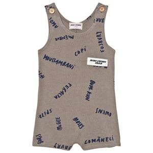 Bobo Choses Boys All in ones Grey The Legends Gino Romper Chateau Grey