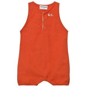Bobo Choses Girls All in ones Red B.C. TEAM Baby Romper Red Clay