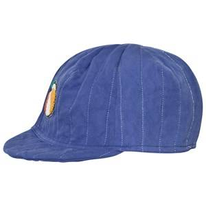 Bobo Choses Unisex Headwear Blue Padded Cycling Cap Mazarine Blue