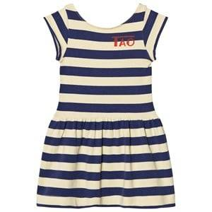 The Animals Observatory Girls Dresses Yellow Sparrow Dress Soft Yellow Stripes
