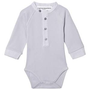 Kiss How To Kiss A Frog Unisex All in ones Grey Baby Body Smart Grey And Stripe
