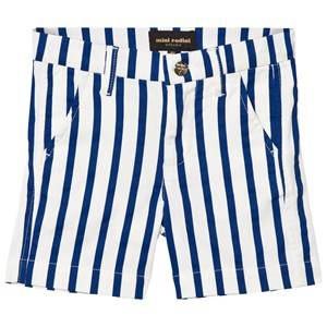 Mini Rodini Unisex Bottoms Blue Stripe Chino Shorts Blue