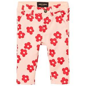 Mini Rodini Unisex Bottoms Pink Blossom Baby Chinos Pink