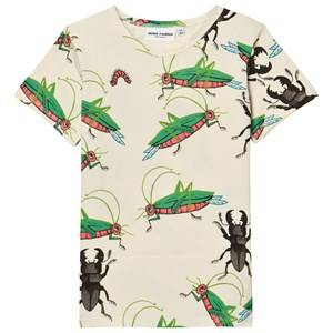 Mini Rodini Unisex Tops White Insects Short Sleeved Tee Off White