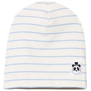 Mini Rodini Unisex Headwear Blue Stripe Rib Beanie Light Blue