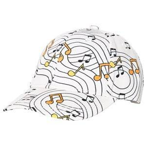 Mini Rodini Unisex Headwear White Music Cap Off White