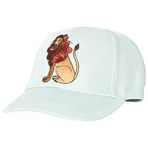 Mini Rodini Unisex Headwear Green Lion Embroidered Cap Light Green