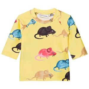 Mini Rodini Unisex Swimwear and coverups Yellow Mr Mouse Uv Top Yellow