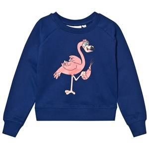 Tao&friends; Unisex Jumpers and knitwear Blue Flamingon Sweatshirt Marine