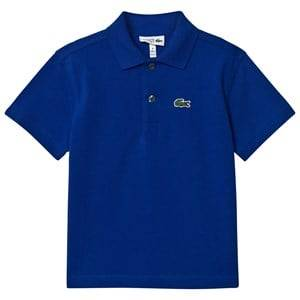 Lacoste Boys Tops Navy Navy Ribbed Collar Shirt