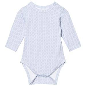 Hust&Claire; Boys All in ones Blue Baby Body With Print Bamboo Zen Blue