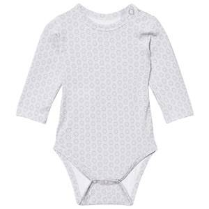 Hust&Claire; Unisex All in ones Grey Baby Body With Print Bamboo Ash Grey