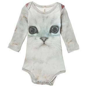 Popupshop Unisex All in ones Multi Baby Body Fluffy Cat