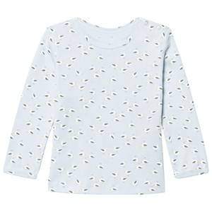 Noa Noa Miniature Boys All in ones Blue Long Sleeve T-Shirt With Maritime Print Baby Blue