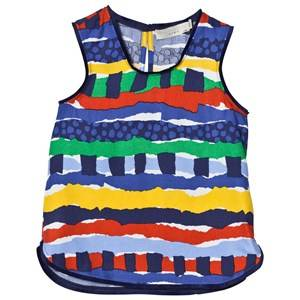 Stella McCartney Kids Girls Tops Multi Multi Rag Print Top