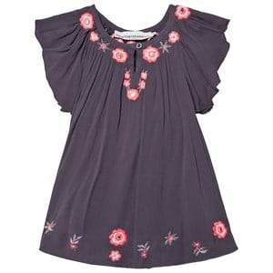 Kiss How To Kiss A Frog Girls Dresses Grey Forma Dress Grey Embroidery
