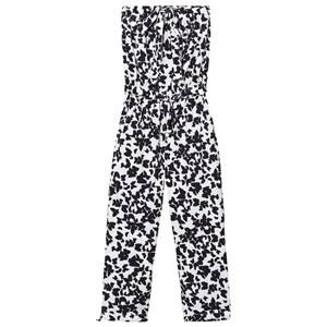 Kiss How To Kiss A Frog Girls All in ones White Moonlight Jumpsuit Black Butterfly