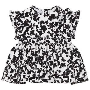 Kiss How To Kiss A Frog Girls Dresses White Fifi Dress Black Butterfly