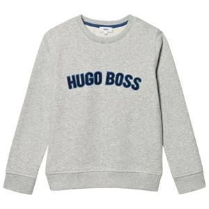 Boss Boys Jumpers and knitwear Grey Grey Embroidered Branded Sweatshirt