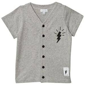 Civiliants Unisex Tops Grey Button Tee Grey Melange