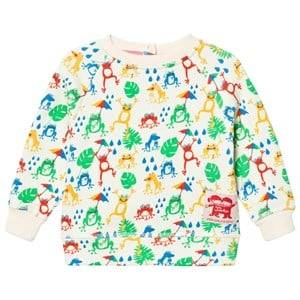 Tootsa MacGinty Unisex Jumpers and knitwear Cream Cream Frogs Print Sweatshirt