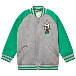 Fendi Boys Coats and jackets Green Grey and Green Neoprene Space Monster Bomber Jacket