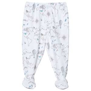 Livly Girls Bottoms White Footed Pants Pink World Map
