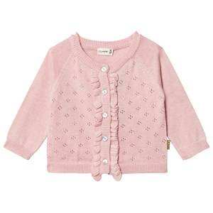 Hust&Claire; Girls Jumpers and knitwear Orange Knit Cardigan Ruffles Peach Dust