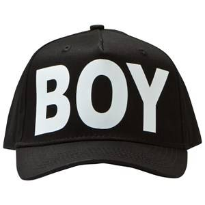 Boy London Unisex Headwear Black Black and White Logo Cap