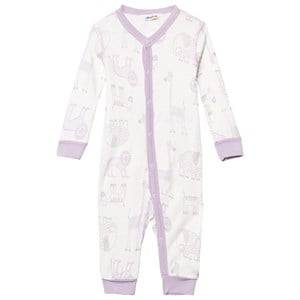 Joha Girls All in ones Pink Zoo One-Piece Fair Orchid