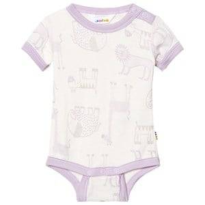 Joha Girls All in ones Pink Zoo Short Sleeve Baby Body Fair Orchid
