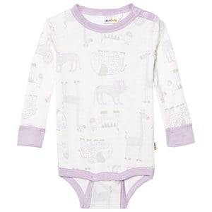 Joha Girls All in ones Pink Zoo Long Sleeve Baby Body Fair Orchid