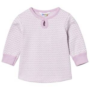 Joha Girls Tops Pink Zig Zag A-shape Sweater Lilac