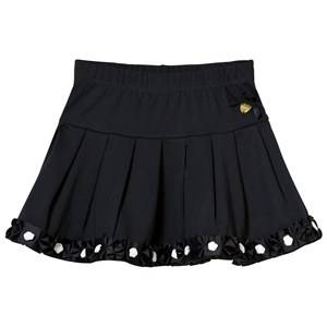 Le Chic Girls Skirts Navy Navy Pleat Skirt with Rosette Hem