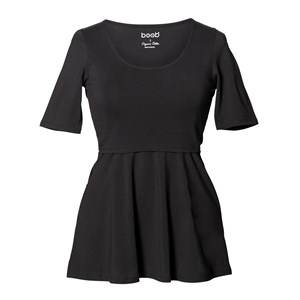 Boob Girls Maternity tops Black Peplum Top Black