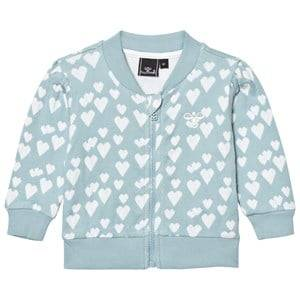 Hummel Girls Jumpers and knitwear Blue Heart Zip Jacket Stone Blue