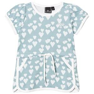 Hummel Girls Dresses Blue Heart Dress Stone Blue