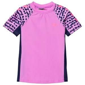 Hummel Girls Swimwear and coverups Purple Zap Swim Tee Rododendro