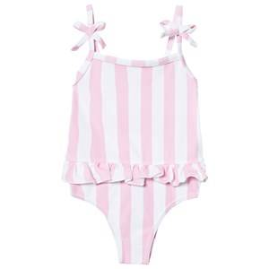 The BRAND Girls Private Label Swimwear and coverups Pink Swim Suit Pink Stripe