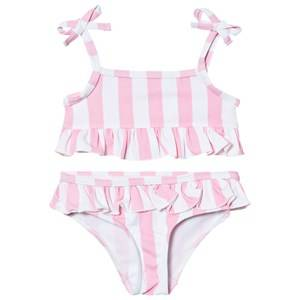 The BRAND Girls Private Label Swimwear and coverups Pink Bikini Pink Stripe