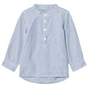 Minymo Boys Tops Blue Kato 81 - Shirt LS Y/D Striped Coastal Fjord