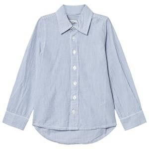 Minymo Boys Tops Blue Kirk 83 Shirt Stripe Coastal Fjord
