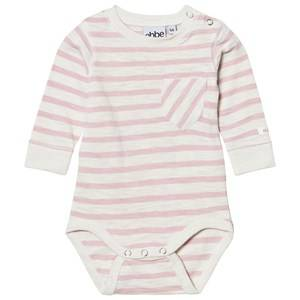 eBBe Kids Girls All in ones Pink Deli Baby Body Off White/Peachy Pink Stripe