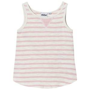 eBBe Kids Girls Tops Pink Dimona Tanktop Off White/Peachy Pink Stripe