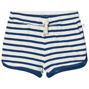 eBBe Kids Girls Shorts Blue Daisy Shorts Off White/Seaside Blue Stripe