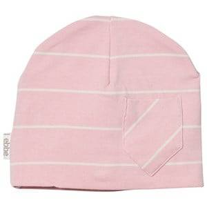 eBBe Kids Girls Headwear Pink Extra Beanie Powder Pink/Off White Stripe
