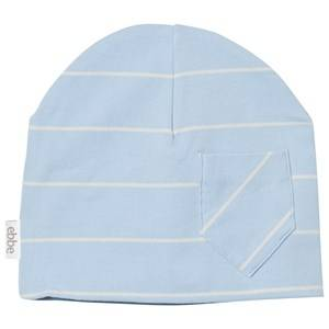 eBBe Kids Unisex Headwear Blue Extra Beanie Pale Sky/Off White Stripe