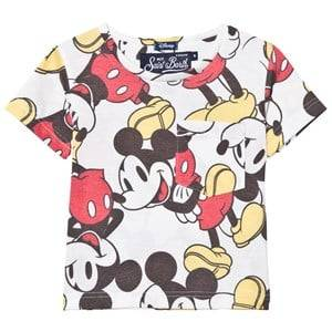 MC2 St Barth Boys Tops Red Mickey Mouse Allover print Tee