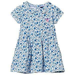 Gant Girls Dresses Blue White Blue Floral Jersey Dress